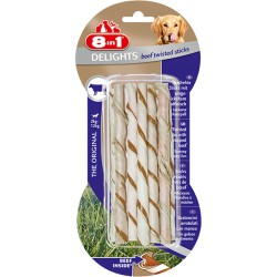 8in1 Delights Beef Twisted Sticks 10szt.