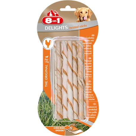 8in1 Delights Twisted Sticks 10szt.