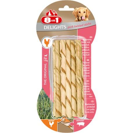 8in1 Delights Pork Twisted Sticks 10szt.