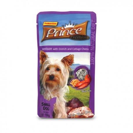 Prince Premium Sasz. Jeleń/Struś/Ser Cottage 150 g