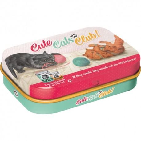 Retro Art Mint Box Cute Cats Club
