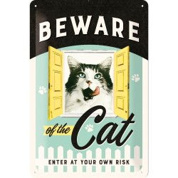 Retro Art Plakat Beware of the Cat 20 x 30cm