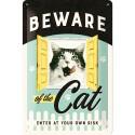 RETRO Plakat Beware of the Cat 20 x 30cm