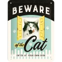 RETRO Plakat Beware of the Cat 15 x 20cm