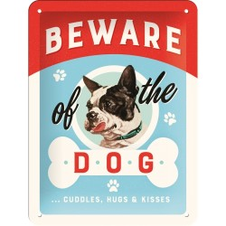 Retro Art Plakat Beware of the Dog 15 x 20cm