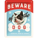 RETRO Plakat Beware of the Dog 15 x 20cm