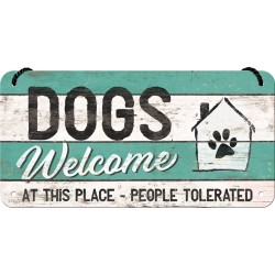 Retro Art Zawieszka Metalowa PfotenSchild Dogs Welcome