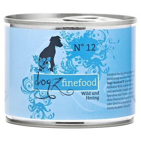 Dogz finefood No.12 dziczyzna & śledź 200g