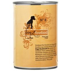 Dogz finefood No.8 indyk & koza 400g