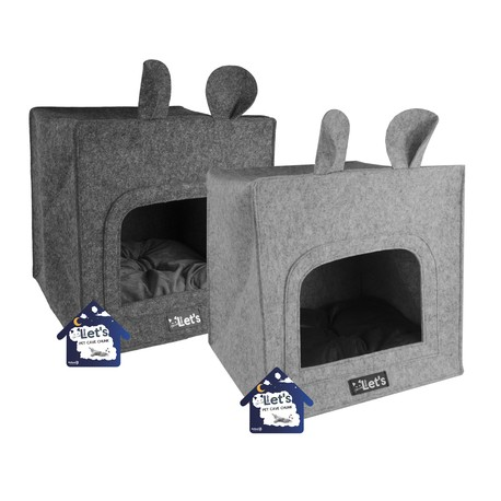 Legowisko Let's sleep Pet Cave Chunk Grijs