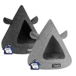 Legowisko Let's sleep Pet Cave TeePee Grijs