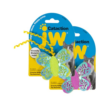 JW Cataction Crunchy Butterfly Toy