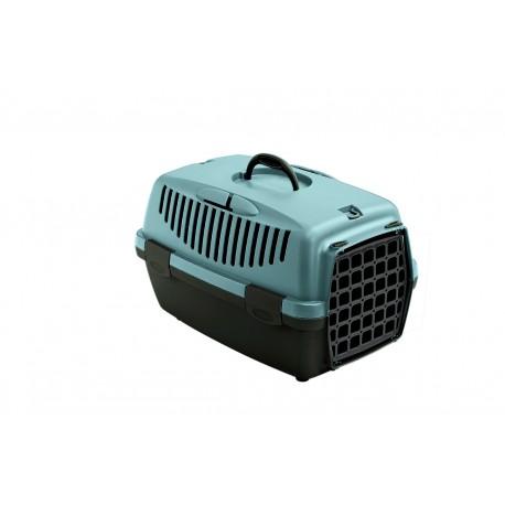 ZOLUX Transporter GULLIVER 1 z plastikowymi drzwiczkami kol. niebieski/ciemny brąz