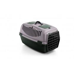 Stefanplast Transporter GULLIVER 2 dla psa z drzwiczkami PCV pudrowy róż