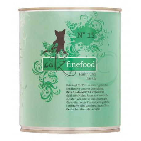 Catz finefood No.15 kurczak & bażant 800g