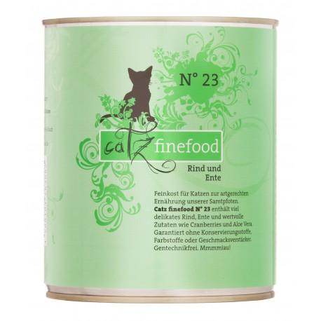 Catz finefood No.23 wołowina & kaczka 800g