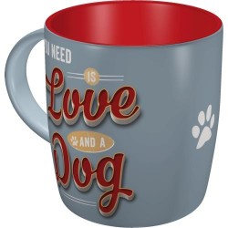 RETRO Kubek PfotenSchild - Love Dog