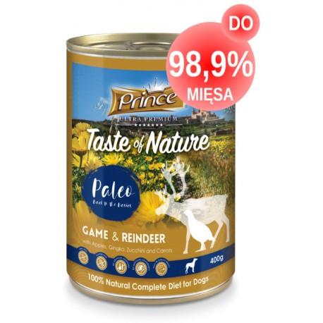 Prince Paleo Dziczyzna Renifer Jabłka 400g DO 99% MIĘSA!!