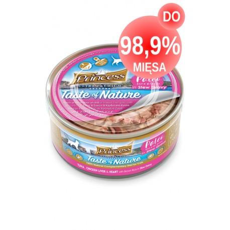 Princess Paleo Tuńczyk Kurczak Wątróbka Serca 170g DO 99% MIĘSA!!