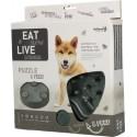 Miska dla psa spowalniająca jedzenie Eat Slow Live Longer Puzzle and Feed Grey