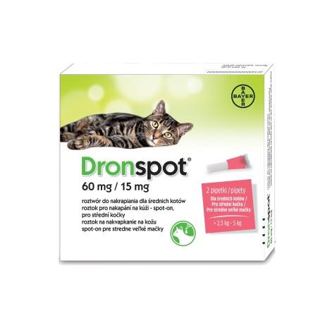 Bayer Dronspot preparat na odrobaczanie dla średnich kotów