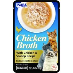 INABA Rosół z mięsem CHICKEN BROTH Kurczak Przegrzebki 50 gr