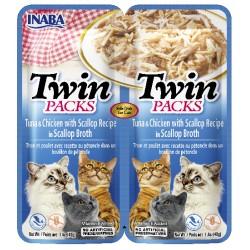 INABA TWIN PACKS CAT - DWUPAK saszetek dla kota Tuńczyk Kurczak & przegrzebki 2 x 40 gr