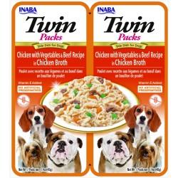 INABA TWIN PACK DOG - DWUPAK saszetek dla psa Kurczak Warzywa Wołowi 2x40g