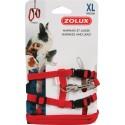 ZOLUX Szelki i smycz dla królika XL czerwone
