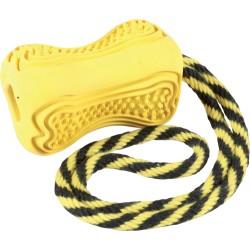 ZOLUX Zabawka kauczukowa ze sznurem TITAN M kol. żółty