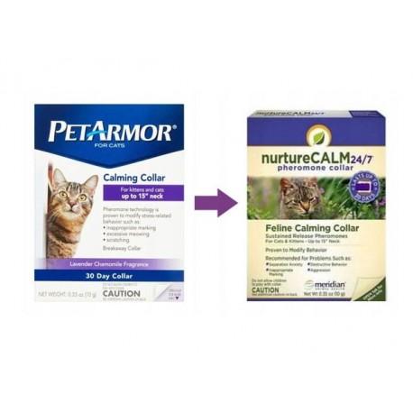 NURTURECALM 24/7 (PETARMOR) obroża feromonowa dla kota 38cm uspokajająca