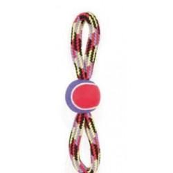 Zolux zabawka ze sznura z piłką tenisową ósemka 36 cm