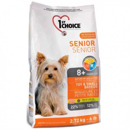 1st Choice Dog Senior Toy & Small Breeds 2,72