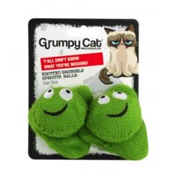 GrumpyCat Zabawka dla kota włóczkowe brukselki 2szt