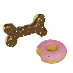 NOBBY Latex Dessert Zabawka donut/ kość nugat zapachowe
