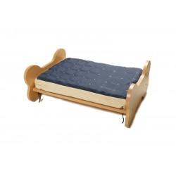 RECORD Łóżko drewniane dla psa i kota z materacem 50x70x30cm