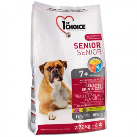 1st Choice Dog Senior Sensitive Skin & Coat 2,72kg