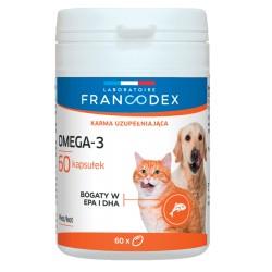 FRANCODEX Omega-3, dla psów i kotów 60 kapsułek
