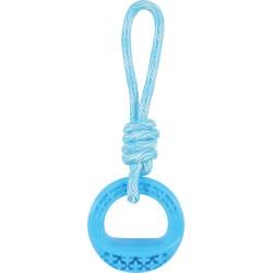 ZOLUX Zabawka TPR SAMBA trójkątna ze sznurem 26 cm niebieski