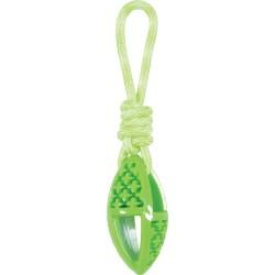 ZOLUX Zabawka TPR SAMBA owalna ze sznurem 28 cm zielony