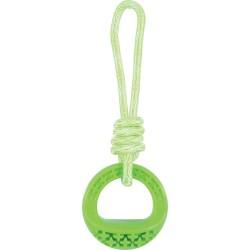 ZOLUX Zabawka TPR SAMBA okrągła ze sznurem 26 cm zielony