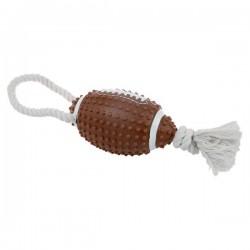 ZOLUX Zabawka winylowa piłka do rugby ze sznurem