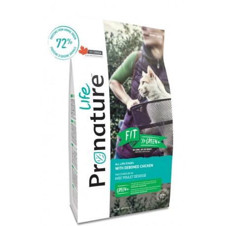 Pronature Life Cat Fit Green 2,27kg dla kotów z nadwagą lub mniej aktywnych Wysokomięsna karma z kurczaka, 72%
