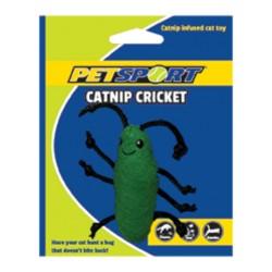 PetSport Zabawka dla kota Świerszcz z kocimiętką zielony