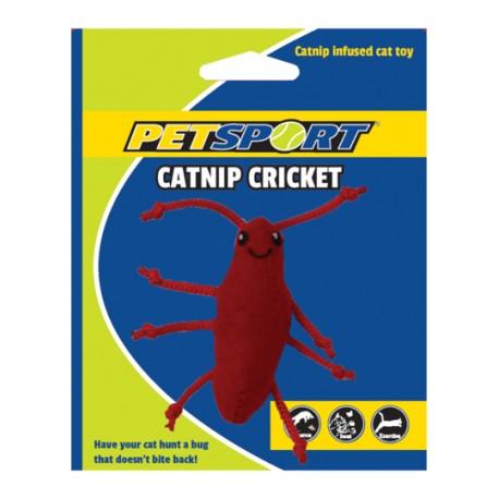PetSport Zabawka dla kota Świerszcz z kocimiętką czerwony
