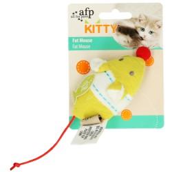 AFP Zabawka dla kota żółta Myszka z kocimiętką