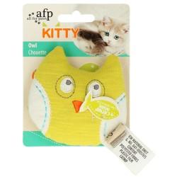 AFP Zabawka dla kota żółta Sówka z kocimiętką