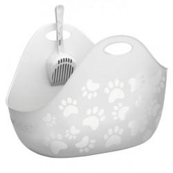 LitterLocker Kuweta z łopatką biała