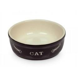 NOBBY Miska ceramiczna CAT 13,5x5cm czarna