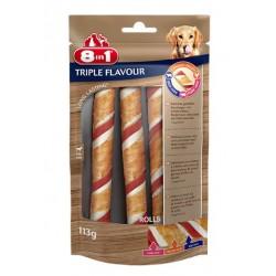 8in1 Przysmak Triple Flavour rolls - mięsna rolada 113g